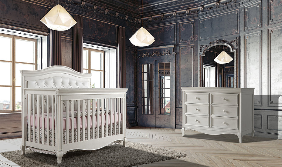 Diamante Crib and Dresser Set