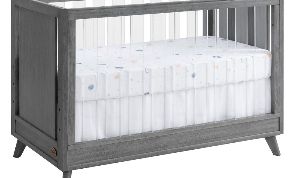 Holland - Cloud Gray 3 in 1 Acrylic Convertible Crib