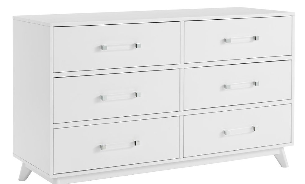 Holland - White 6 Drawer Dresser