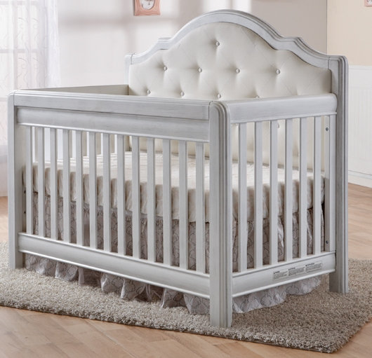 Cristallo Forever Crib with Fabric Panel