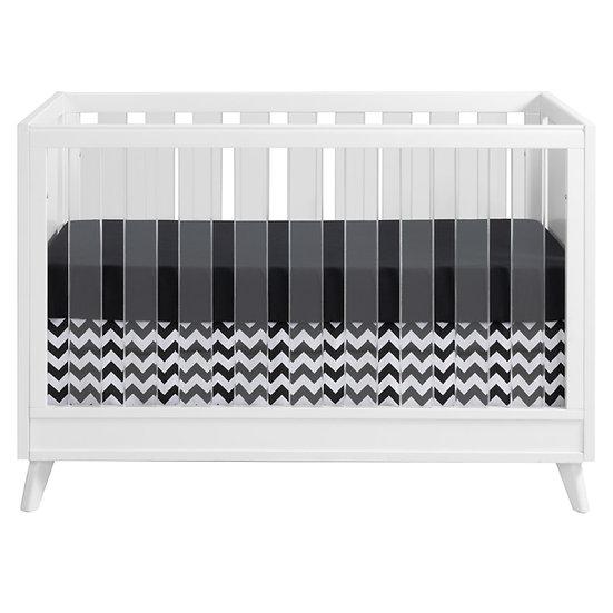 Holland - White 3 in 1 Acrylic Convertible Crib