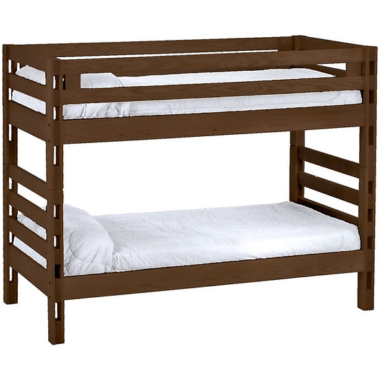 Ladder end bunk bed. Twin over twin.