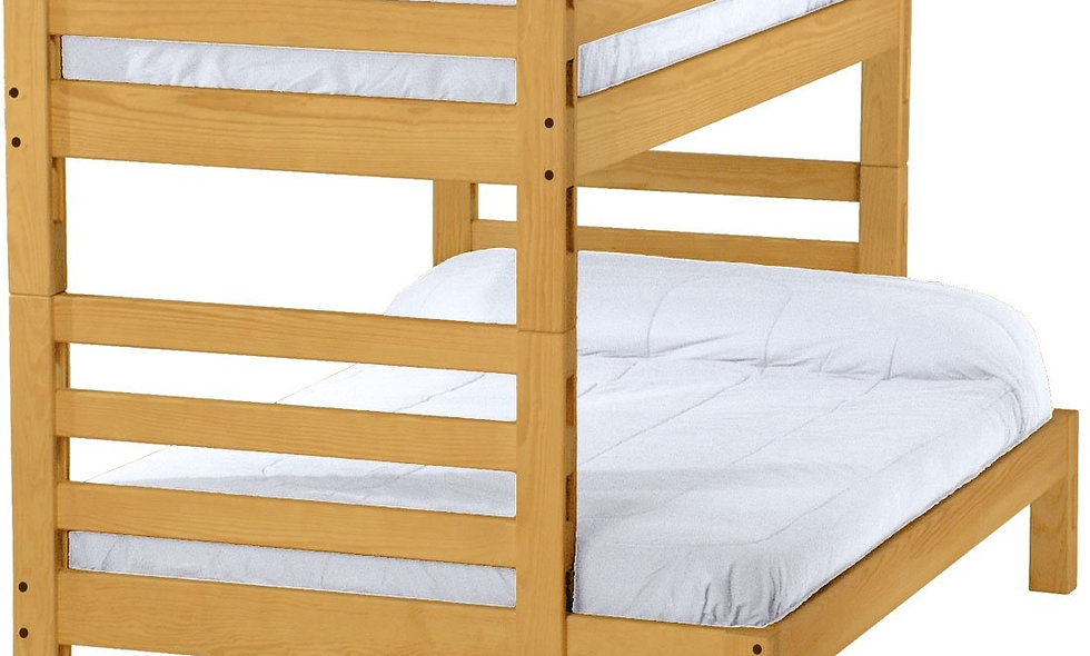 Ladder end bunk bed. Twin over full, cutaway. (4006)