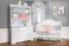 Catania crib with double dresser white s
