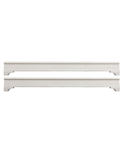Kerrigan Collection Platform Bed Rails in Rustic White