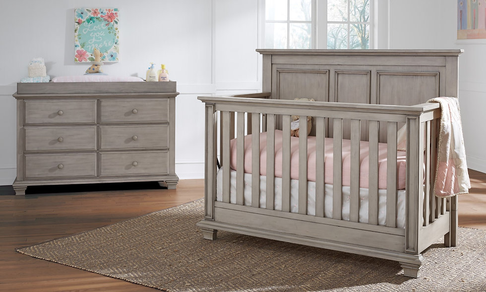 Oxford Crib & Double Dresser (FREE MATTRESS)