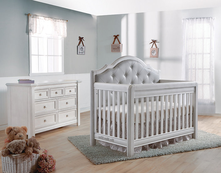 Cristallo Crib and Dresser Set