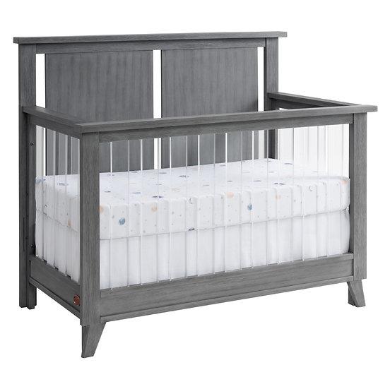 Holland - Cloud Gray Acrylic 4 in 1 Convertible Crib