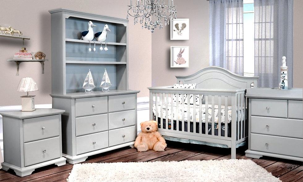 Devon Crib 3-in-1 & Dresser (FREE MATTRESS)