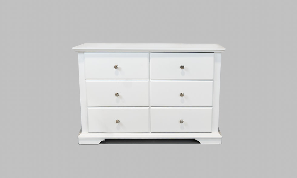 Devon Double Dresser in white