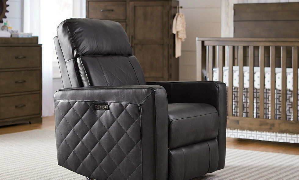 SOHO POWER GLIDER AND RECLINER IN GRAY