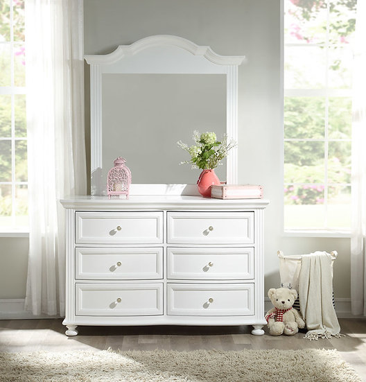 Princess Double Dresser with Mirror