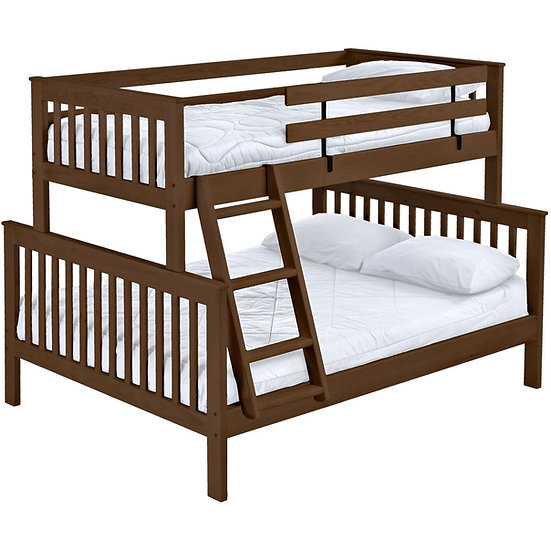 Mission bunk bed. TwinXL over queen, offset. (4758H)