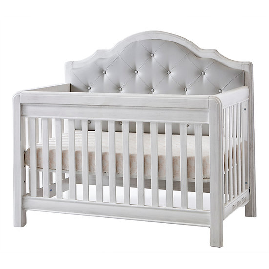 Cristallo Forever Crib with Grey Vinyl Panel