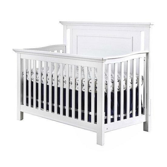 Como Flat Top crib in Vintage White