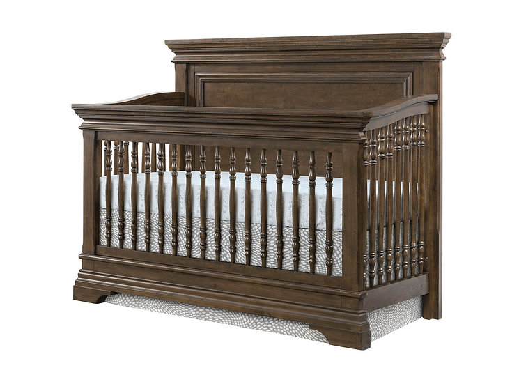 Olivia Flat Top Convertible Crib | Rosewood