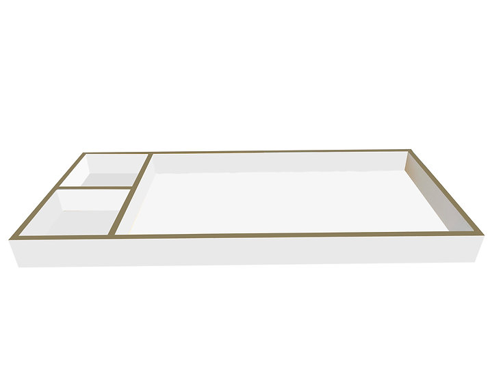 Changing Tray in white and gold