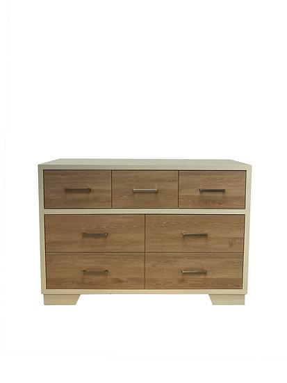Birch 7 Drawer Double Dresser
