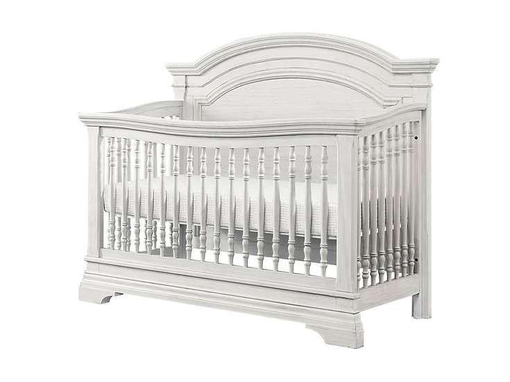 Olivia Arch Top Convertible Crib | Brushed White