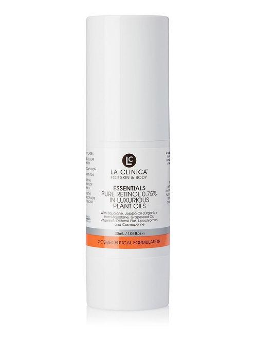 La Clinica Essentials Pure Retinol 0.75% in Luxurious Plant Oils 30ml