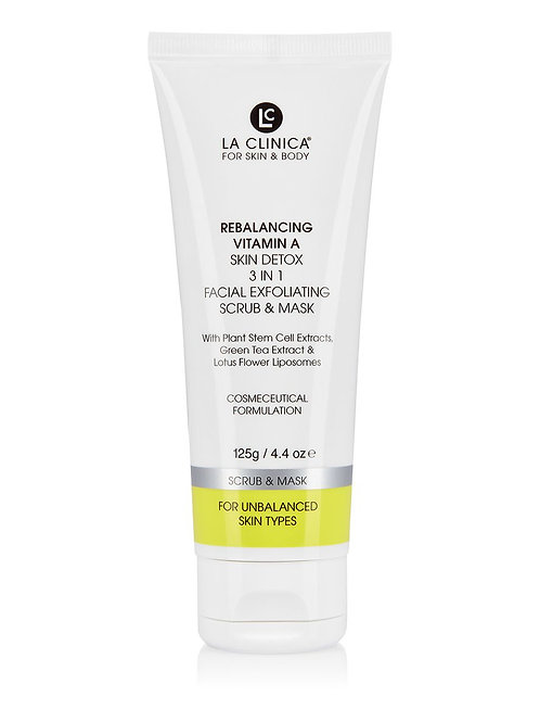 La Clinica Rebalancing Vitamin A Skin Detox Facial Exfoliating Scrub & Mask 125g