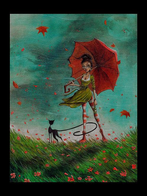 la femme au parapluie.