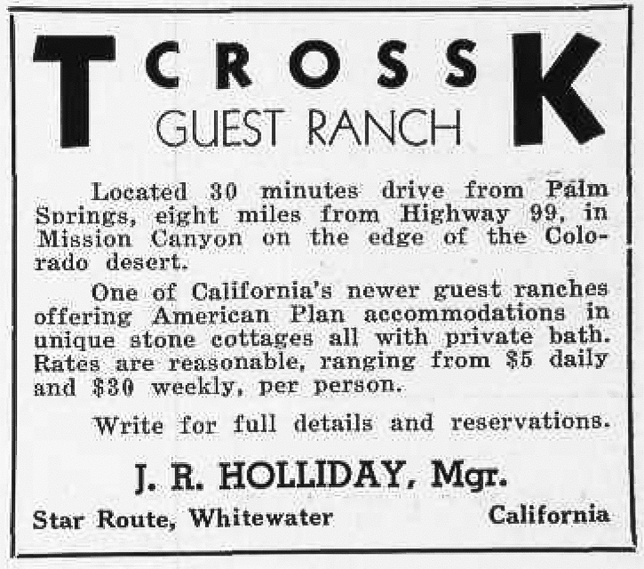 6-32 T-Cross-K Guest Ranch ad - December