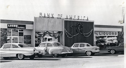 Bank of America about 1957 on Pierson -