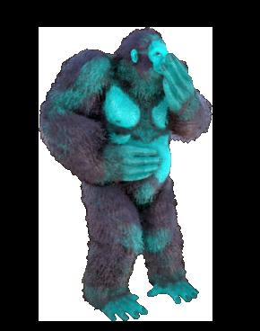 Blue/Cyan Gigantopithecus Clone (Big Foot) Pc PvE
