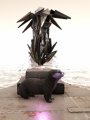 Lvl 163 Female Otter (Black&Purple)