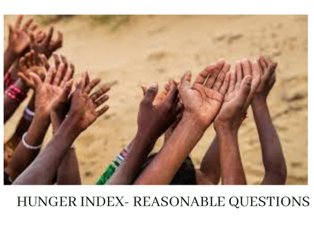 HUNGER INDEX- REASONABLE QUESTIONS