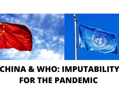 CHINA & WHO: IMPUTABILITY FOR THE PANDEMIC