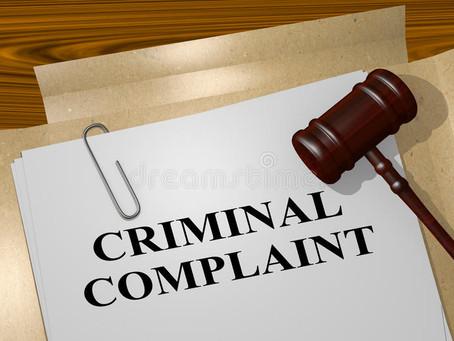 To file a criminal complaint: Procedures