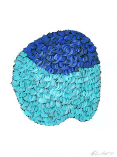 Kana Mick Design Form Skulptur türkis-bl