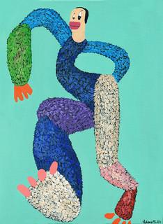 Kana Mick Axel tanzende Fellfigur Painting art Bremen