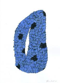 Kana Mick Design Form Skulptur blau-schw