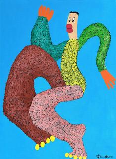 Kana Mick Uwe tanzende Fellfigur Painting art Bremen