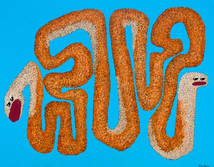 Kana Mick painting art fur snake 1
