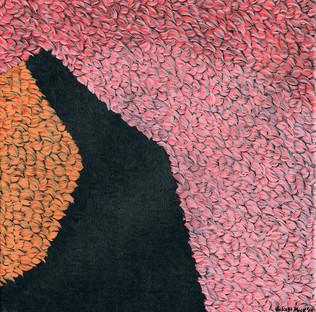 Kana Mick Fellquadrat pink-schwarz-orange