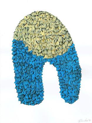 Kana Mick Design Form Skulptur hellblau-