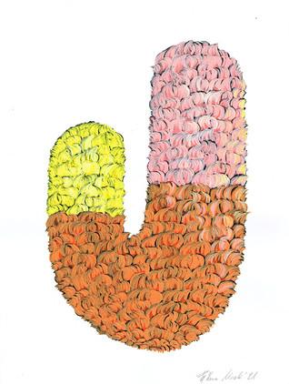 Kana Mick Design skulptur gelb orange pink
