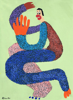 Kana Mick Doris tanzende Fellfigur Painting art Bremen