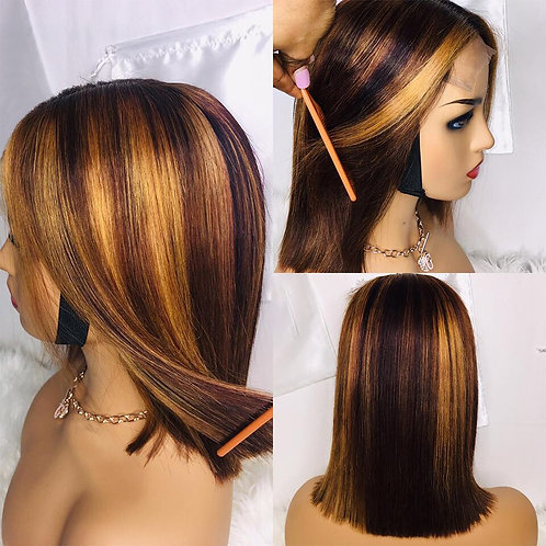 Britney - 1b/27 Ombre Highlight 4X4 Closure  150% Density Pre Plucked