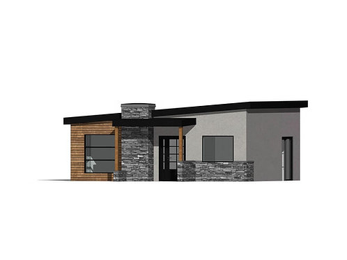 Plan 20-106.1 (672 Sq Ft -  1Bed/1Bath)