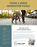 Purrs & Grrrs Information Packet preview