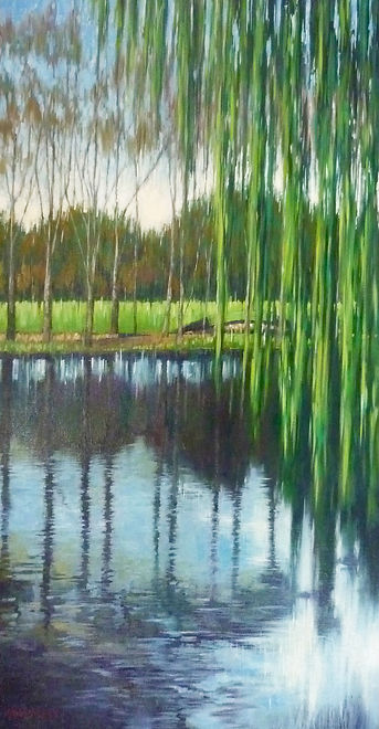 Willows over Rymill Pond