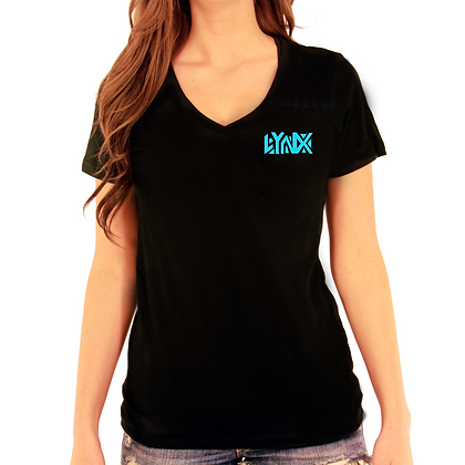 V-neck Blue solid logo