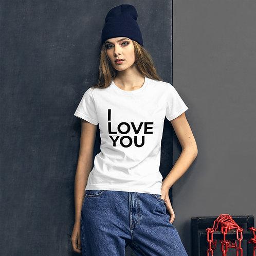 I Love You Women's Short Sleeve T-Shirt - White