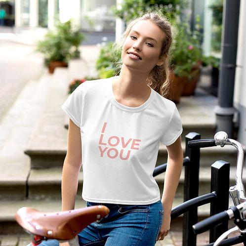 I Love You Crop Tee copy - Pink