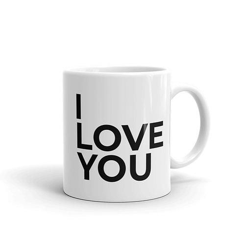 I Love You Mug - Black
